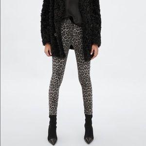 Zara Snow Leopard Pants